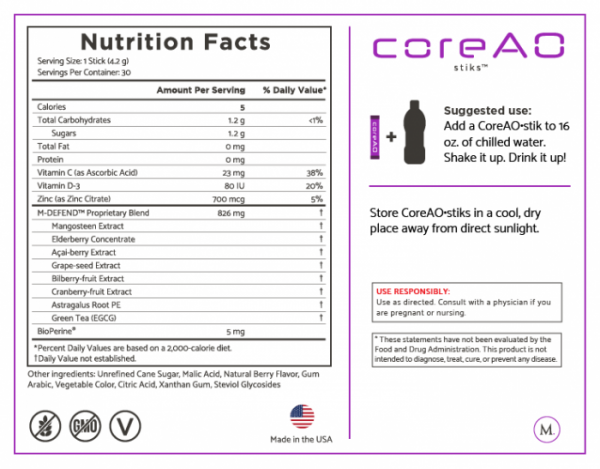Boost Immunity for Better Health with Core AO stiks