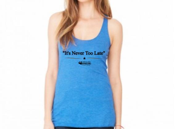 Top sellng Carolina bodybuilding blue racerback tank top