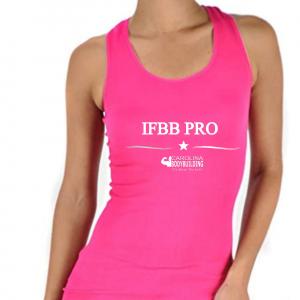 IFBB PRO Pink Racerback top