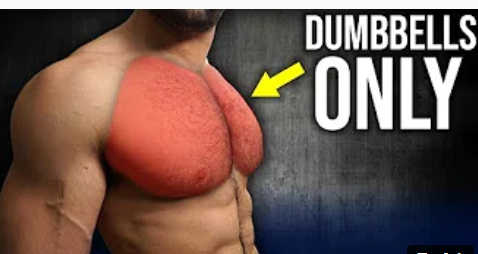 Dumbbell, 5-min Home Chest Workout