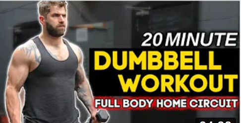 Full Body Toning Home Dumbbell Workout (20 Minutes)
