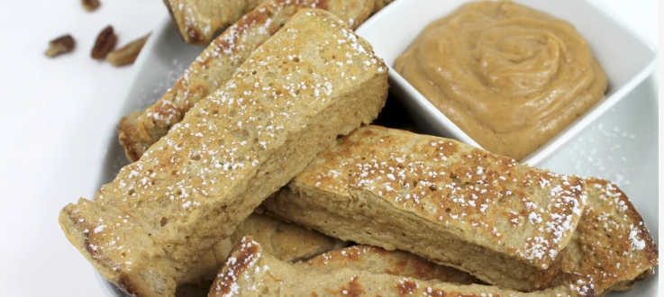french toast sticks, healthy eating, protein, low carbs, fat to fit, health and fitness