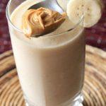 peanut butter smoothie, high protein smoothie, breakfast smoothie, breakfast alternative