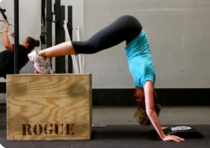 fat to fit, handstand push ups, fitness, tabata workouts