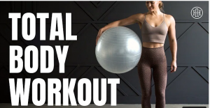 stability ball workout, fitness, core workout, total body workout