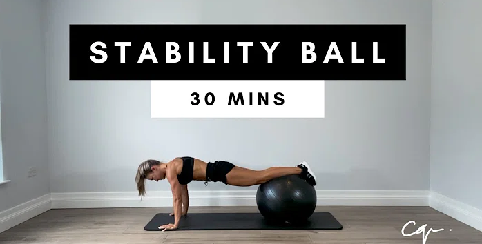 Full Body Stability Ball Workout 30 Min